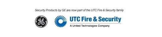 UTC Fire and Security logo and GE logo